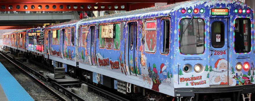 CTA Holiday Train at Chicago Stop